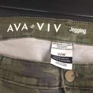 Ava & Viv Pants - Ava & Viv camo jegging